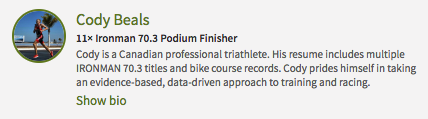 Cody Beals - Pro Triathlete