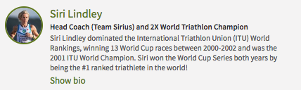 Siri Lindley - Two -Time Triathlon World Champion & Team Sirius Head Coach